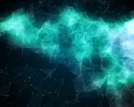 nebula: Illustration of abstract green nebula in cosmos