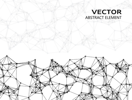 cybernetic: Vector abstract particles on white background Illustration