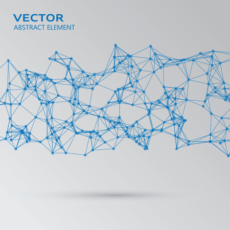 cybernetic: Vector element of blue abstract cybernetic particles Illustration