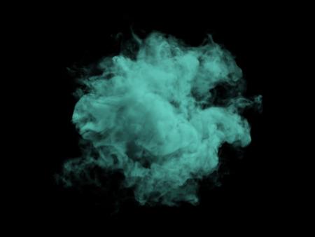 nebulosity: Illustration of green smoke on black background Stock Photo