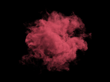 vapour: Illustration of red smoke on black background Stock Photo