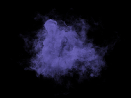 Abstract illustration of lilac smoke on black background