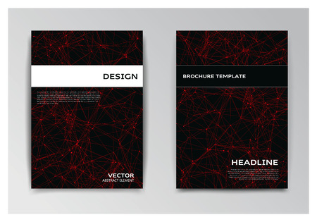 Vector two templates of brochure with abstract elements