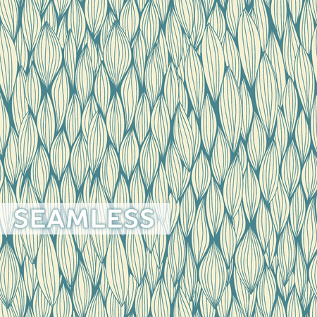 plaiting: Abstract vector seamless pattern with curvy elements.