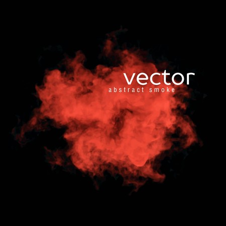 赤黒の煙のベクター イラストです。あなたのデザインの背景の要素として使用します。