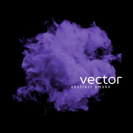 toxic cloud: Vector illustration of violet smoke on black. Use it as an element of background in your design.