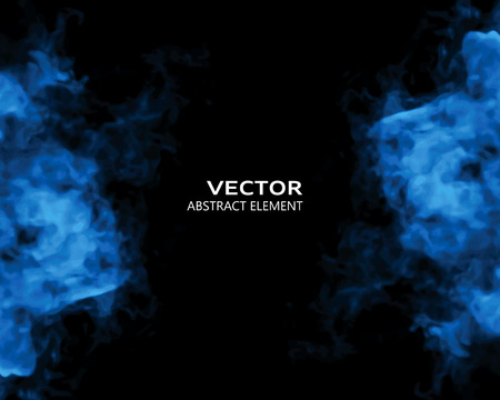 nebulosity: Vector illustration of smoke elements on black. Use it as a background in your design projects.