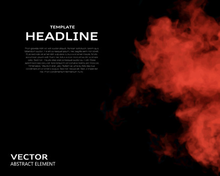 vapour: Vector illustration of smoke elements on black. Use it as a background in your design projects.