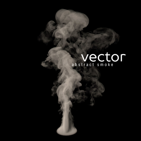 vapour: Vector illustration of grey smoke on black. Use it as an element of background in your design. Illustration