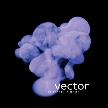 hazy: Vector illustration of blue smoke on black. Use it as an element of background in your design.