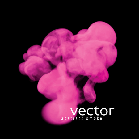 pink smoke: Vector illustration of pink smoke on black. Use it as an element of background in your design.