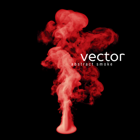red smoke: Vector illustration of red smoke on black. Use it as an element of background in your design.