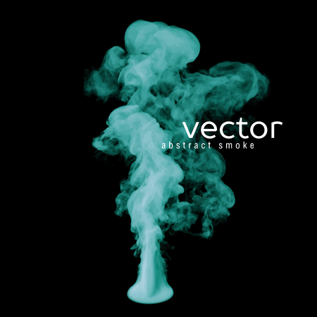 green smoke: Vector illustration of green smoke on black. Use it as an element of background in your design.