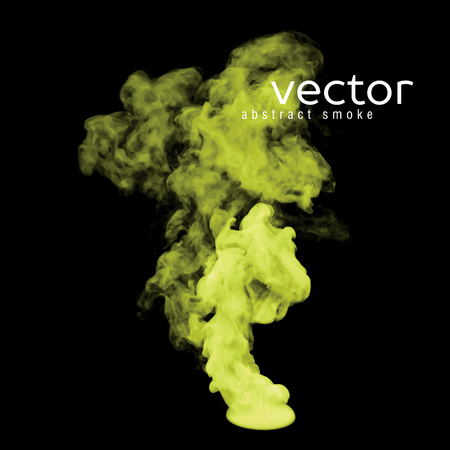 caustic: Vector illustration of toxic smoke on black. Use it as an element of background in your design.