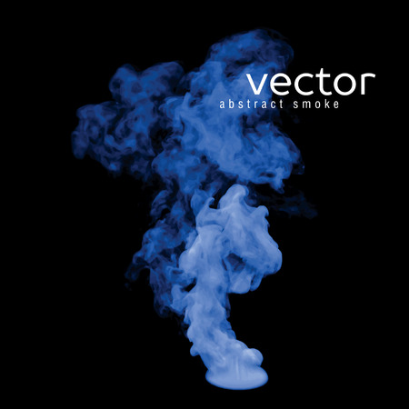 nebulosity: Vector illustration of blue smoke on black. Use it as an element of background in your design.