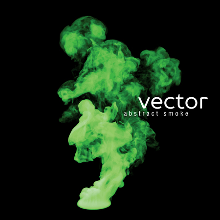 nebulosity: Vector illustration of green smoke on black. Use it as an element of background in your design.