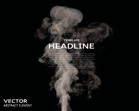 Ilustración vectorial de elementos de humo en negro. Utilizarlo como un fondo en sus proyectos de diseño. Foto de archivo - 45594125