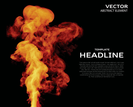 nebulosity: Vector illustration of fire elements on black. Use it as a background in your design projects.
