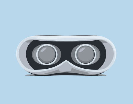 VIRTUAL REALITY: Glasses for virtual reality. Vector illustration.