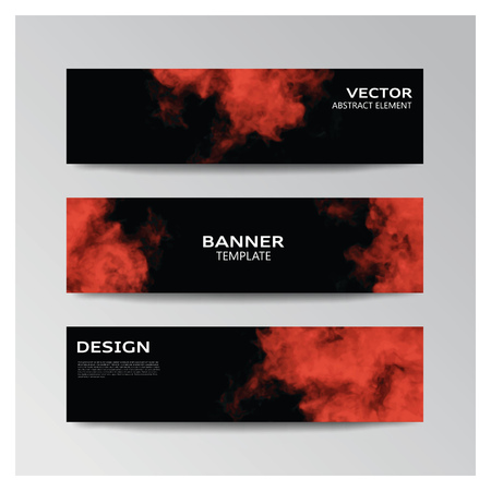 smoky: Vector template of banner with abstract smoky shapes