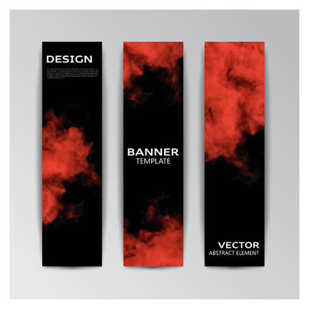 enfumaçado: template of banner with abstract smoky shapes