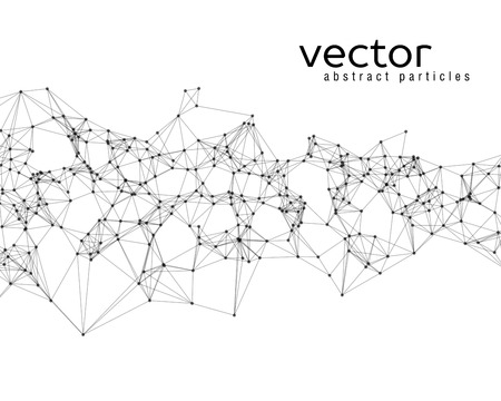 Vector black abstract particles on white background Иллюстрация