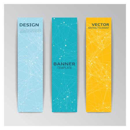 Vector template of banner with abstract elements