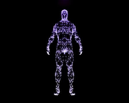 人間の体の抽象的なデジタル イラスト。正面から見た図。 写真素材
