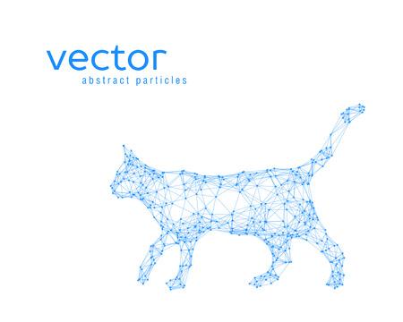 catlike: Abstract vector illustration of cat on white background Illustration