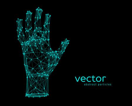 Resumen ilustración vectorial de brazo humano en el fondo negro Ilustración de vector