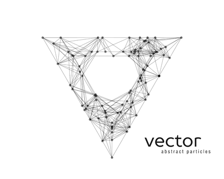 Abstract vector illustration of triangle on white background Vetores