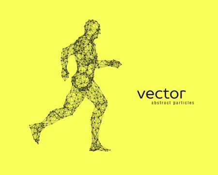 stranger: Abstract vector illustration of running man. Illustration