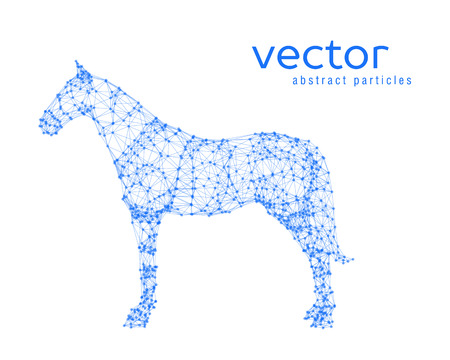 Abstract vector illustration of horse on white background Vetores