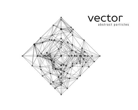 Vector ilustración abstracta de forma simple - rombo. EPS 10