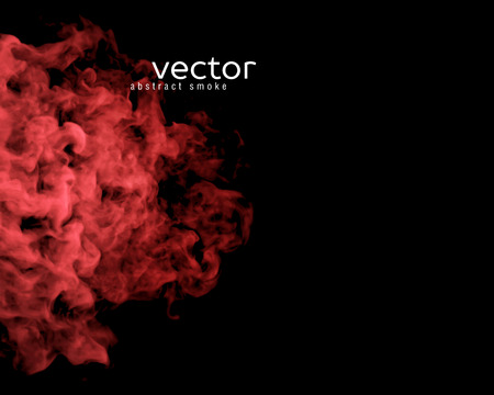 nebulosity: Vector illustration of red smoke on black. Use it as an element of background in your design.