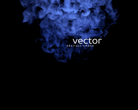 blue smoke: Vector illustration of blue smoke on black. Use it as an element of background in your design.