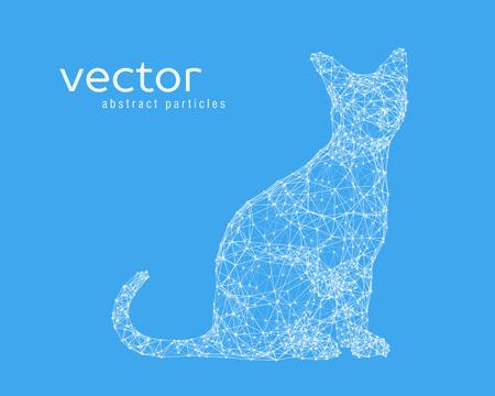 catlike: Abstract vector illustration of cat. EPS 10 Illustration
