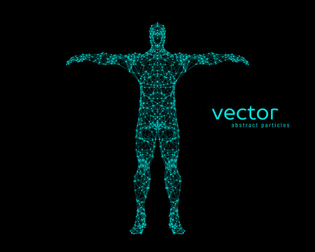 chakra energy: Abstract vector illustration of man. Illustration