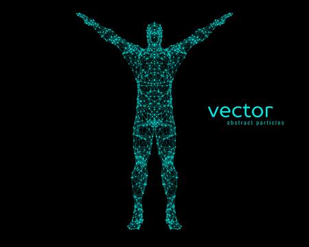 Ilustración vectorial abstracto del hombre. Foto de archivo - 81698480