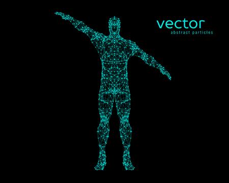 Ilustración vectorial abstracto del hombre. Foto de archivo - 81698481