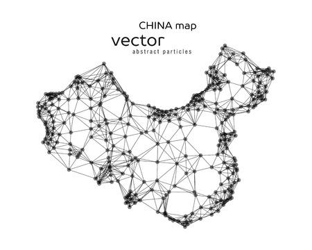mapa china: Vector resumen ilustración de mapa chino. 10 EPS Vectores