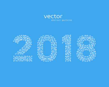 Abstract vactor illustration of number 2018. Illustration