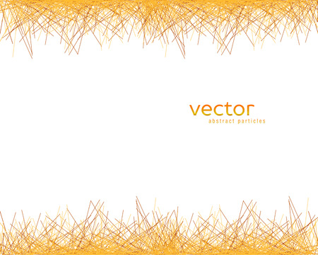Vector background with abstract particles on white background. Illustration