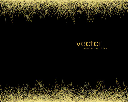 Vector background with abstract particles on black background.