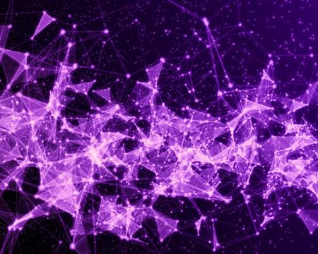 Resumen digital de fondo con partículas cibernéticos violetas. Foto de archivo - 75665773