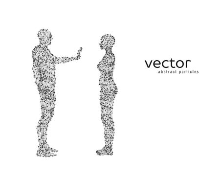 Resumen ilustración vectorial de la pareja en el fondo blanco. Foto de archivo - 78020568
