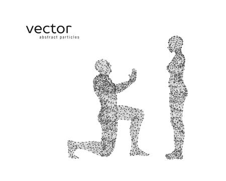 Resumen ilustración vectorial de la pareja en el fondo blanco. Foto de archivo - 78020581