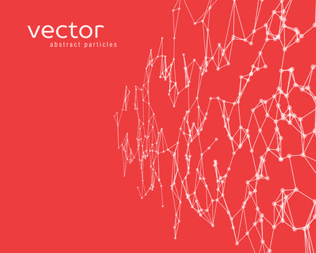 Vector futuristic background with white abstract particles.