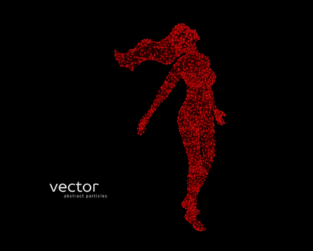 Resumen ilustración vectorial de volar hermosa mujer. Foto de archivo - 79872794