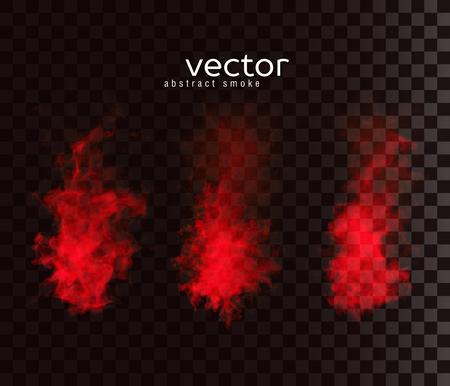 special effect: Vector illustration of smoky shapes. Isolated transparent special effect. Illustration
